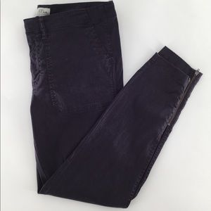 J crew stretch cargo pants with the zipper ankles